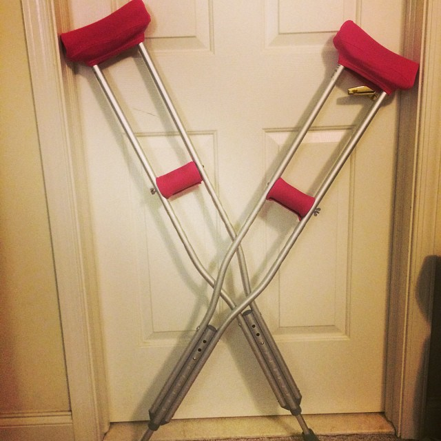 Ankle surgery crutches